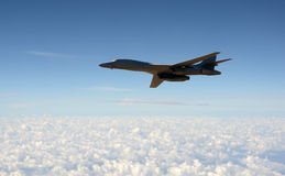 Strategic bomber in flight Stock Photo