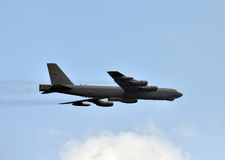 Strategic bomber in flight Royalty Free Stock Images