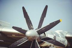 Strategic bomber screws. Screws of an old turboprop strategic bomber Royalty Free Stock Images