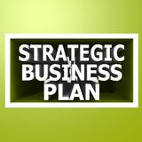 Strategic business plan Stock Image