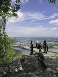 Strategic cannon. A strategic placed cannon from the civil war, overseeing Chattanooga Royalty Free Stock Image