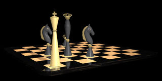 Strategic Chess Move Concept - Checkmate Stock Photography