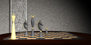 Strategic Chess Move Concept - Checkmate Stock Photo