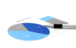 Strategic forecast. Pie chart diagram of strategic forecast, selective focus Royalty Free Stock Photo