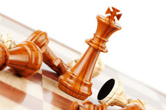 Strategic Formation. Business Strategic Formation in the chess game Royalty Free Stock Photos