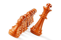 Strategic Formation. Business Strategic Formation in the chess game Stock Photo