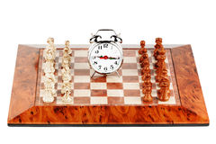 Strategic Formation. Business Strategic Formation in the chess game Stock Images