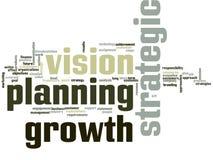 Strategic Growth Word Cloud. Strategic Growth and planning Word Cloud royalty free illustration