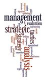 Strategic management. Words cloud with strategic management related words Royalty Free Stock Image