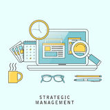 Strategic management concept Royalty Free Stock Image