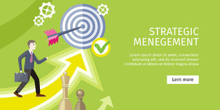 Strategic Management Concept Vector Illustration Stock Image