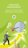 Strategic Management Concept Vector Illustration Stock Images