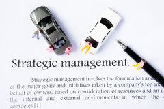 Strategic management focus background Royalty Free Stock Photography