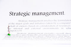 Strategic management focus background Royalty Free Stock Images