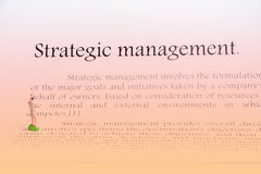 Strategic management focus on white Royalty Free Stock Images