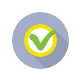 Strategic Management Web Button with Check Sign. Stock Image