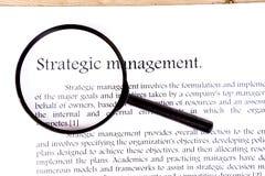 Strategic management on white background Royalty Free Stock Photography