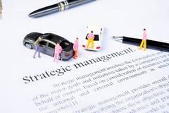 Strategic management on white background Stock Photography