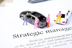 Strategic management on white background Royalty Free Stock Photo