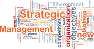 Strategic management word cloud Royalty Free Stock Photos