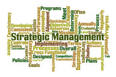 Strategic Management. Word cloud on white background Royalty Free Stock Image