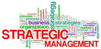 Strategic management word tags Stock Images
