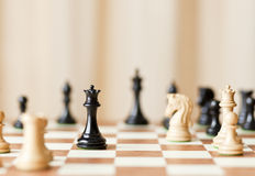 Strategic moves, chess game Royalty Free Stock Photo