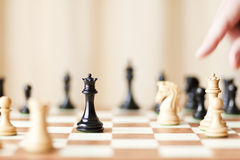 Strategic moves, chess game Stock Image