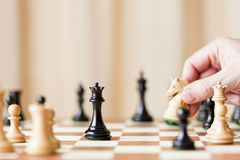 Strategic moves, chess game Stock Photography