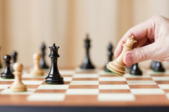 Strategic moves, chess game Royalty Free Stock Images