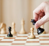 Strategic moves, chess game Royalty Free Stock Photos