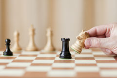 Strategic moves, chess game Stock Photos