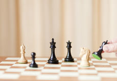 Strategic moves, chess game Stock Photo
