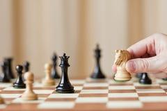 Strategic moves, chess game Stock Photos