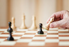 Strategic moves, chess game Royalty Free Stock Photography