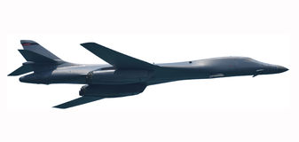 Strategic nuclear bomber isolated Royalty Free Stock Images
