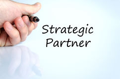 Strategic partner text concept Royalty Free Stock Photography