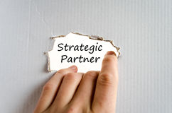 Strategic partner text concept Stock Images