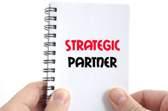 Strategic partner text concept. Isolated over white background Royalty Free Stock Photography