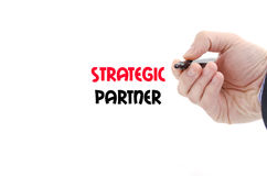 Strategic partner text concept. Isolated over white background Royalty Free Stock Photo