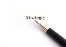 Strategic with pen Stock Photography