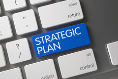 Strategic Plan CloseUp of Keyboard. Stock Photos