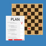 Strategic plan concept. Creative business plan note, vector illustration Stock Photography