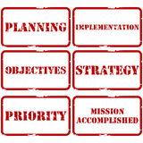 Strategic plan stamps Royalty Free Stock Photos