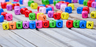 Strategic Plan words on table. Strategic Plan words on wooden table Stock Photo