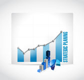 Strategic planing business graph illustration Stock Photos