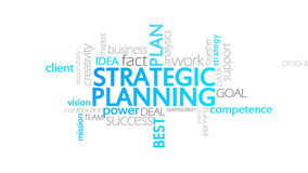 Strategic Planning, Animated Typography. Strategic planning, typography,4k high quality vector illustration