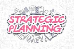Strategic Planning - Cartoon Magenta Text. Business Concept. Stock Photo