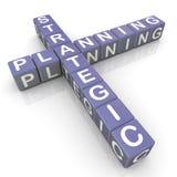 Strategic planning crossword. 3d render of strategic planning crossword Stock Photo
