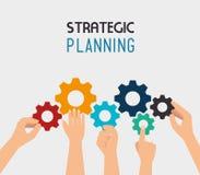 Strategic planning design. Stock Image